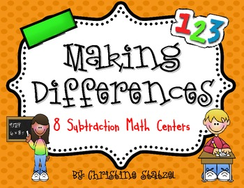 Making Differences {8 Hands-On Subtraction Centers}