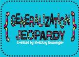 Making Generalizations: Jeopardy Game