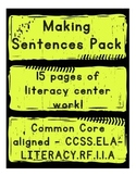 Making Sentences - Literacy Centers