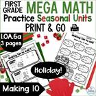Making Ten to Add Mega Math Practice {Holiday FREEBIE} CCS