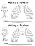 Making a Rainbow Emergent Reader- Kindergarten- St. Patrick's Day
