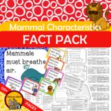 Mammal Characteristics Fact Pack {What makes a mammal a mammal?}