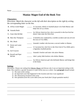 Maniac Magee Book Trailer images