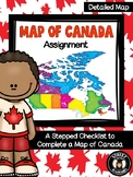 Map of Canada Assignment (+ Rubric) ***Version 1***