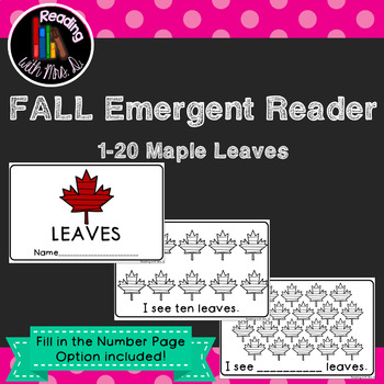 Maple Leaf Numbers Emergent Interactive Reader