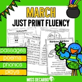 March Just Print Fluency Pack