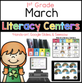 March Literacy Menu 1st Grade