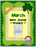 March Math Journal Prompts