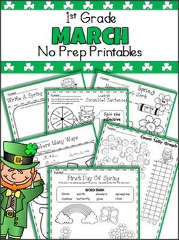 March No Prep Printables - 1st Grade