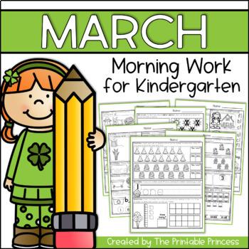 March Morning Work for Kindergarten {Common Core Aligned}