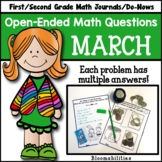 March Open-Ended Math Questions for Journals or Do-Nows (1
