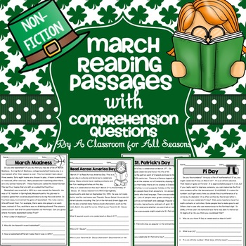 March Reading Passages with Comprehension Questions