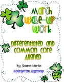 March Wake-Up Work {Common Core Aligned, Differentiated Wo