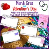 Mardi Gras and Valentine's Day Math Problems