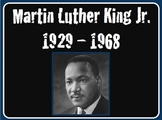 """Martin Luther King Jr. """"I Have a Dream"""" Power Point lesson"""