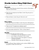 Martin Luther King Jr Scavenger Hunt
