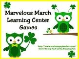 Marvelous March Learning Center Games for Kindergarten