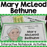Mary McLeod Bethune Interactive Notebook Activities  (Hist