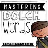 Mastering Dolch Words in Chevron  {Pre-Primer to Third Grade}