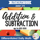 Daily Math Sheets - 30+ Days of Addition and Subtraction