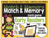 Match and Memory Card Game - Early Readers