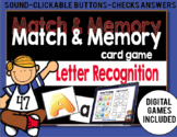 FREE Match and Memory Game - Letter Recognition