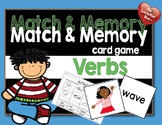 Match and Memory Card Game - Verbs