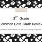 Math 4th Grade Review of 3rd Grade Material Engage NY Common Core