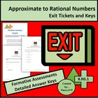 Math 8.NS.1 Exit Ticket/Mini Quiz Set Rational Irrational