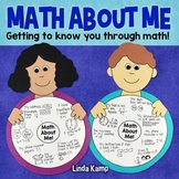All About Me Math Craft & Chart {Math About Me}
