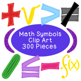 Math Algebra Clip Art Bundle Symbols PNG JPG Blackline Com