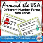 Math Around the USA Numbers Operations Base 10 5NBT1 5NBT2 5NBT3a