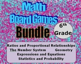 Math Board Games Bundle - 6th Grade - (6.RP) (6.NS) (6.EE)