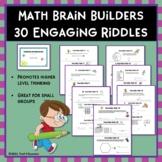 Math Brain Builders Riddles - 30 Mini Test Prep Activities