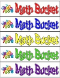 Math Bucket Labels