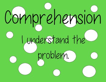 Math CAFE Bulletin Board Headings AND Strategies--Green