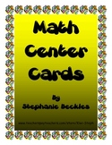 Math Center Cards