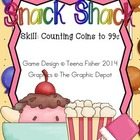 Math Center Snack Shack Counting coins to 99 cents
