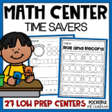 Math Center Time Savers