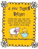 Math Centers: A Few Things Spring