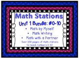 Daily 3 Math Centers BUNDLE - Unit 1: #0-10