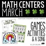 Math Centers - March (Common Core - 1st Grade)