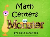 Math Centers {Monster Math} Common Core