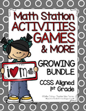 Math Centers and Games (Monthly) - Growing Bundle