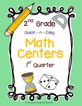Math Centers for 2nd Grade (1st Quarter - Common Core)