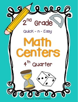Math Centers for 2nd Grade (4th Quarter - Common Core)