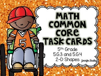 Math Common Core Task Cards 5th Grade CCSS 5.G.3 and 5.G.4