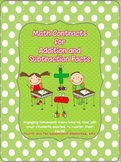 Math Contracts for Addition and Subtraction Facts