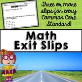 Math Exit Slips