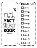 Math Fact Sticker Book